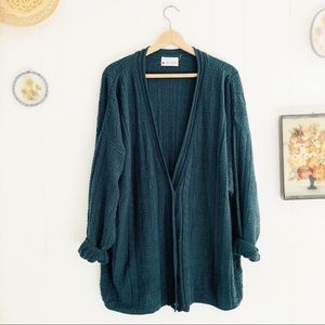 Vintage Oversized Cable-knit Cardigan